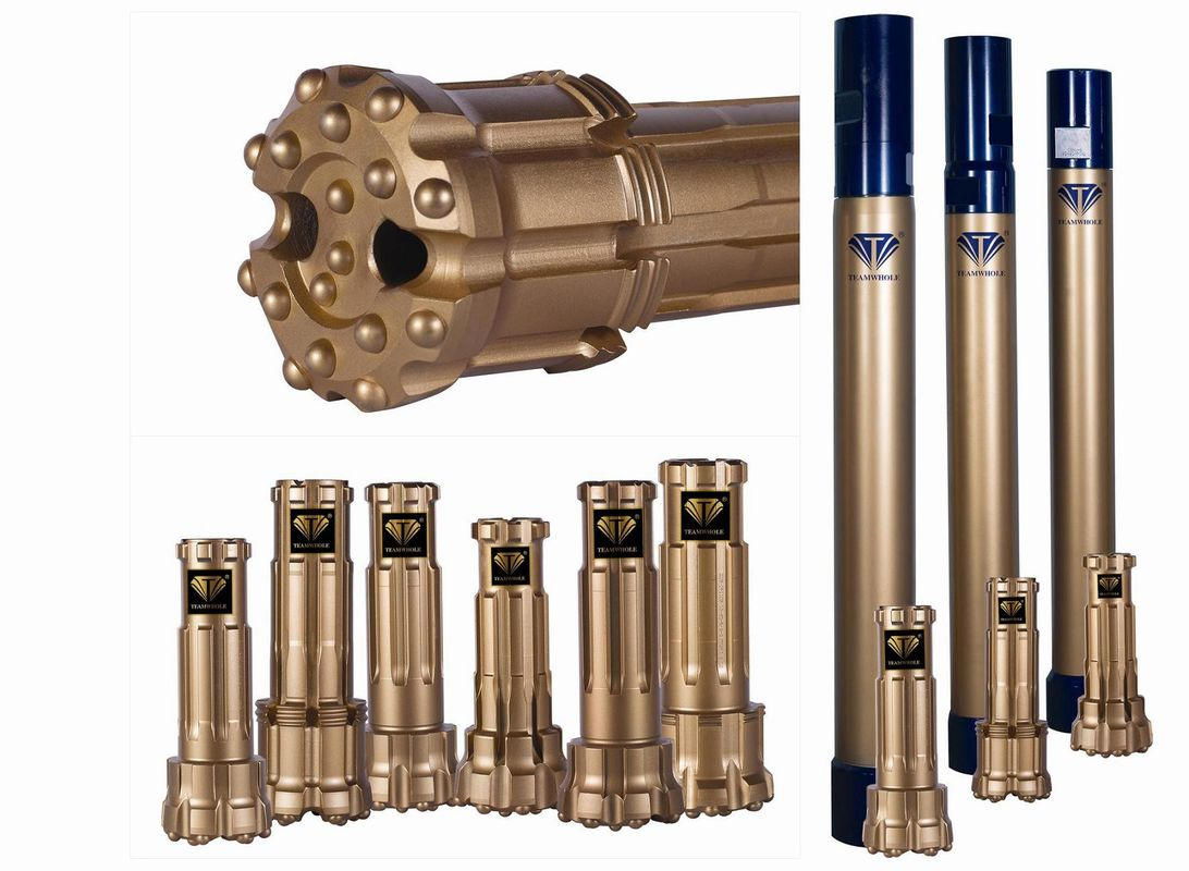 Good Corrosion Stability 4 Inch Dth Bits , Gold Color Drill Bits For Oil And Gas Industry
